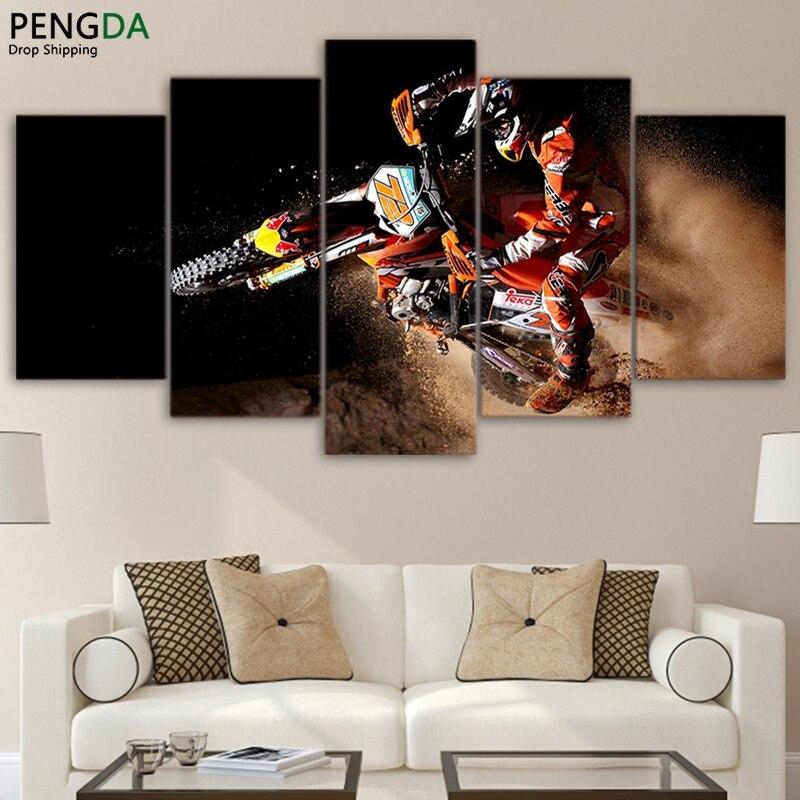 Modulaire pictures home decor toile hd imprimer peinture cadre pour salon 5 pi ces sport - Cadre decoratif pour salon ...