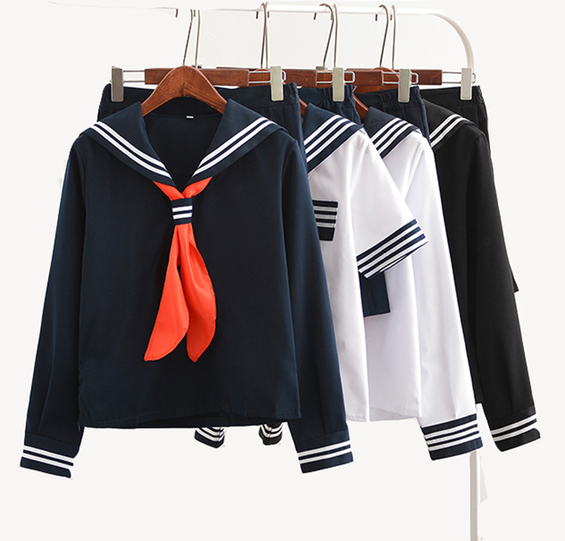Japanese Anime Jigoku Shojo Cosplay Costume Hell Girl Enma Ai Cosplay Costume JK Student School Uniform Sailor Suit image