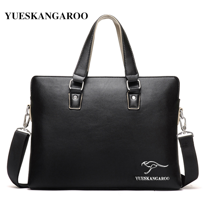 YUES KANGAROO New Brand Fashion Messenger Bag Men Leather Handbags Men's Casual Briefcase Shoulder Bags For Men Bolsa Feminina yues kangaroo brand men bag leather casual high quality shoulder crossbody bags classical business briefcase mens messenger bag