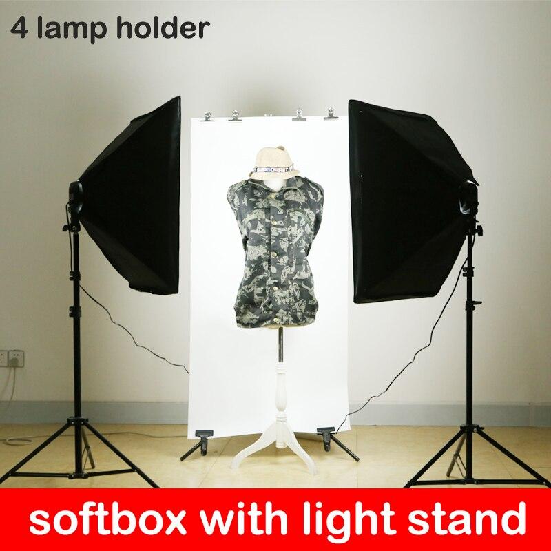 Photo Studio 50 * 70cm Softbox Iluminación continua 4 en 1 E27 - Cámara y foto - foto 3