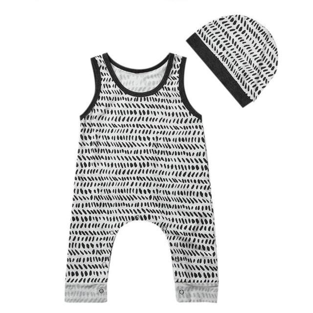 b33097627143 New Fashion Cotton Newborn Baby Girls Boy Clothes Striped Romper ...