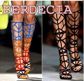 summer newest hollow out colorful patchwork long boots candy color sandal boots open toe high heel shoes suede knee high boots lace patchwork hollow out shirt