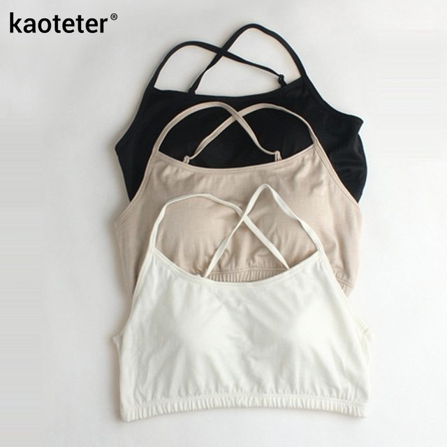 100% Pure Silk Women's Harness Tube Tops Women Breathable With Chest PadS Anti-light Female Wrapped Chest Underwear Woman