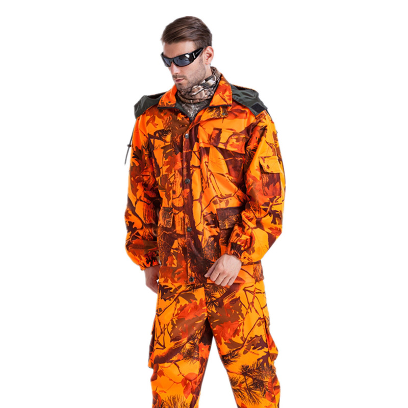Wholesale MULTICAM Uniform Bionic Camouflage Tactical Suit Orange Plus Size Sniper Suit Hunting Waterproof Clothing L~4XL CF1