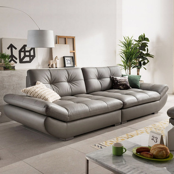 genuine leather sofa sectional living room sofa corner home furniture couch 4-seater functional backrest modern style pictures of american victorian style sectional heated mini leather sofa set designs for restaurant restaurant leather sofa f81