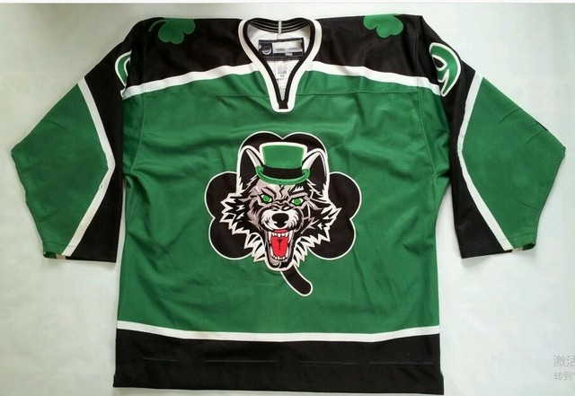 2008 CHICAGO WOLVES ST.PATRICK DAY  9 SCHULTZ Hockey Jersey Embroidery  Stitched Customize any number and name Jerseys cefcd2c48cf