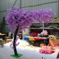 180cm tall Wedding purple color artifical peach tree/ cherry blossom tree Wedding Decoration road leads Event Props