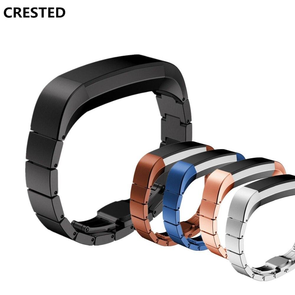 CRISTA Aço Inoxidável Watch Band Para Fitbit Alta HR/Alta Substituição strap Pulseira pulseira de Acessórios de cinto de fivela de metal