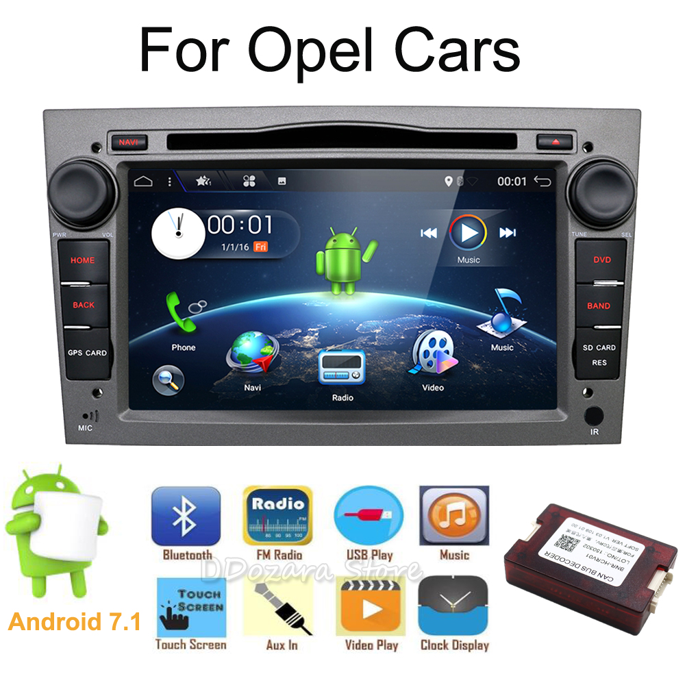 HD 1024 600 Quad Core Android 7 1 font b Car b font tape recorder GPS