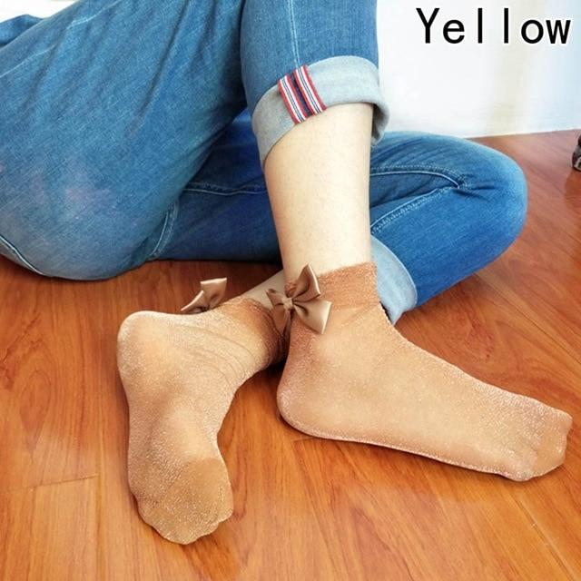 Bow Tie Cute Glitter Bow Knot Socks 1