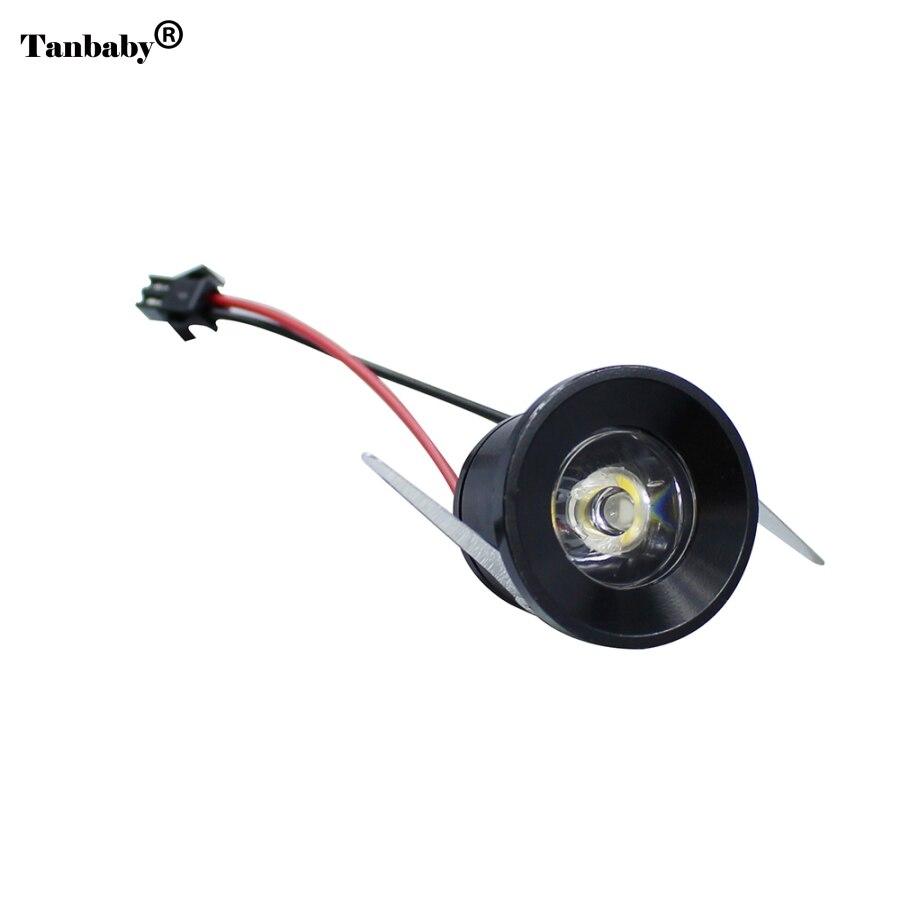 buy tanbaby 10pcs lot mini led spot downlight 1w led cabinet light ac85 265v. Black Bedroom Furniture Sets. Home Design Ideas