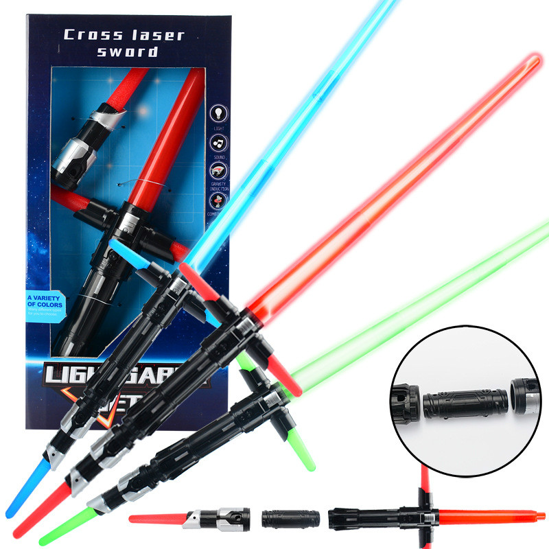 3 Styles Star Wars Lightsaber Last Jedi PVC Collection Light Up Saber Model Anime Hobbies Action Toy Figures Toys For Children