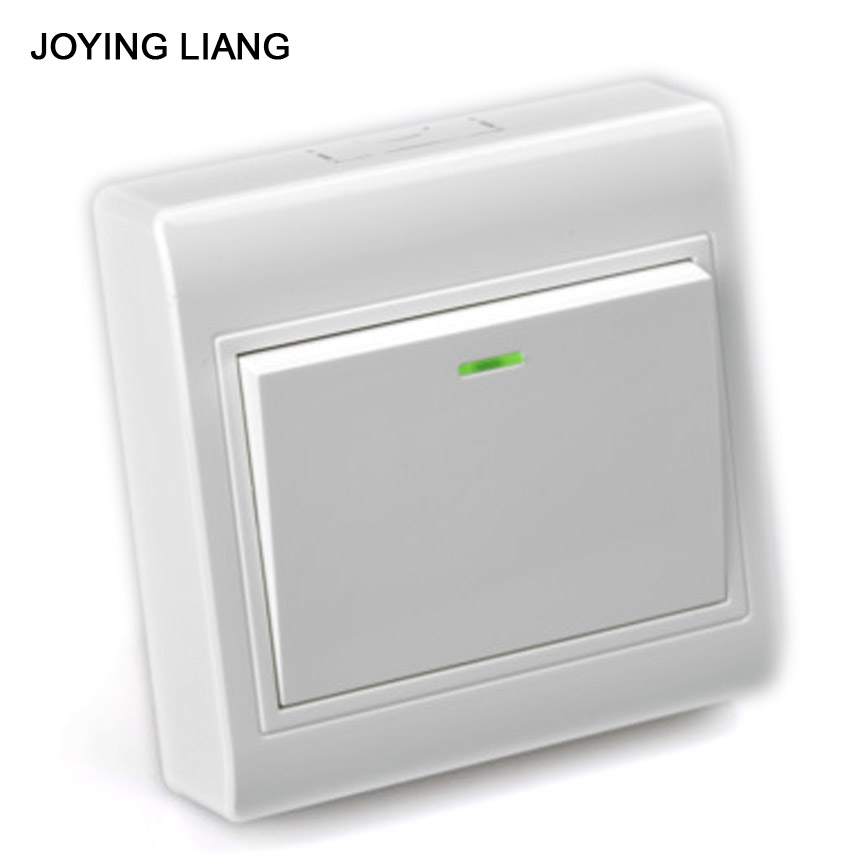 JOYING LIANG 86 Wall Surface-type Rocker Switch Outlet PC Material White 1 Gang/ 2 Way Switch Socket new a8 3 three frame a8 function of supporting frame 86 outlet switch combination surface box