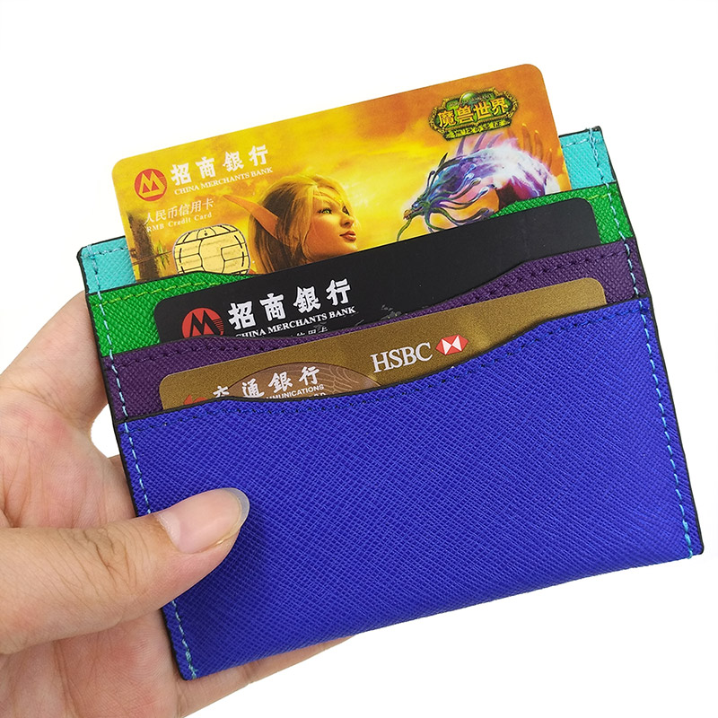 Fashion Candy Color Card Wallet Women Slim Multi Cards Bag Cow Leather Simple Cute Small Fresh Mini Cardholder Porte Carte