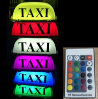 TAXI Car Top LED Light Cab Roof Car Styling Sticker Auto Decoration 7 color USB Car Roof Lamp Accessories for Cars