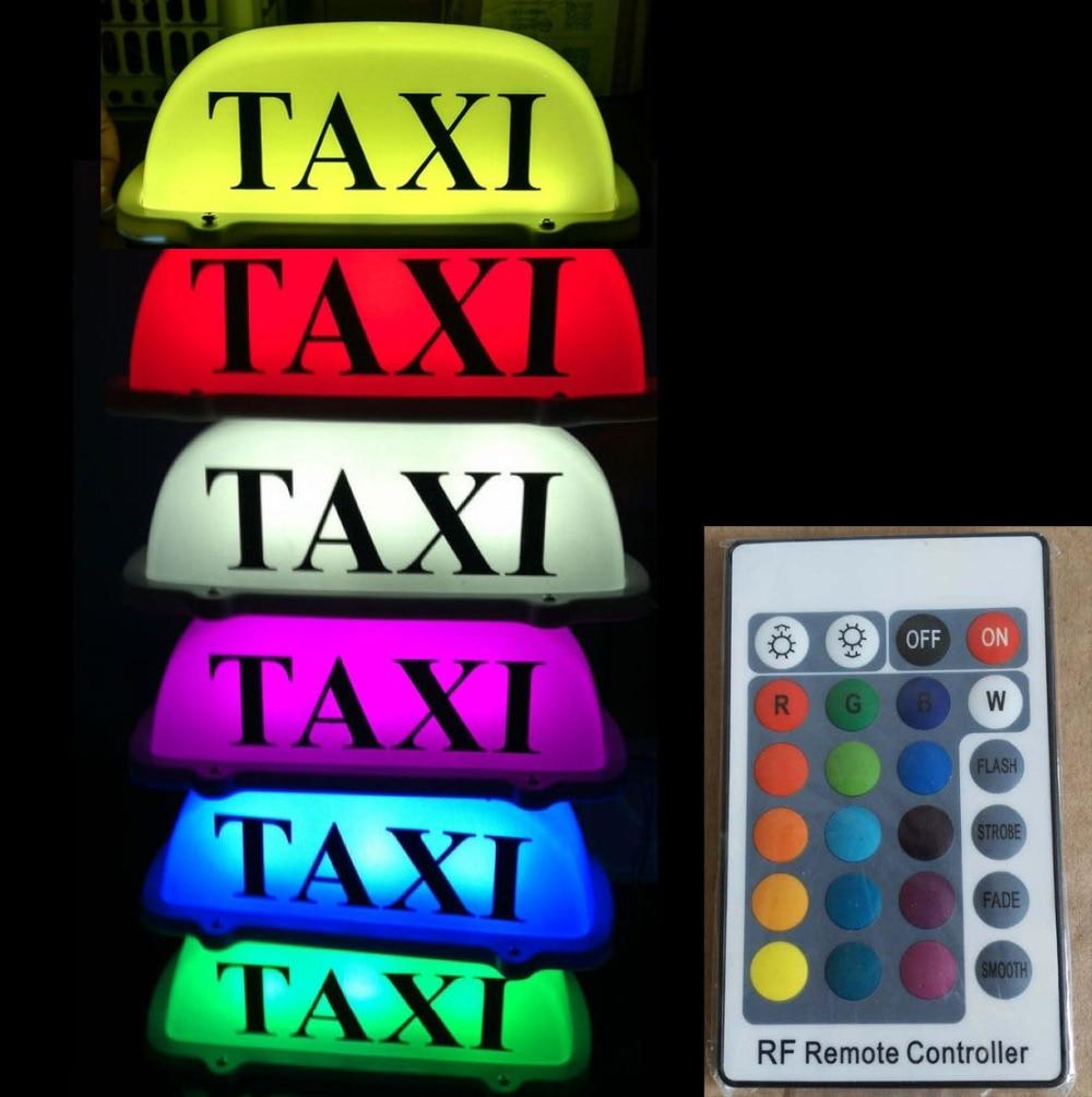 TAXI voiture Top lumière LED cabine toit voiture style autocollant Auto décoration 7 couleur USB voiture toit lampe accessoires pour voitures