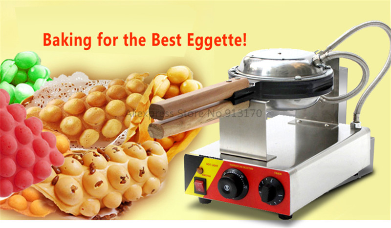 Electric Non-stick Eggettes Bubble Waffle  Egg waffle Maker-Rotated 180 Degree 220V/110V wholesale