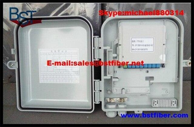 8 Ядра FTTH-Fiber Optic Box, Материал ABS Коробка, FTTH Распределительная Коробка, PLC Splitter Выбор