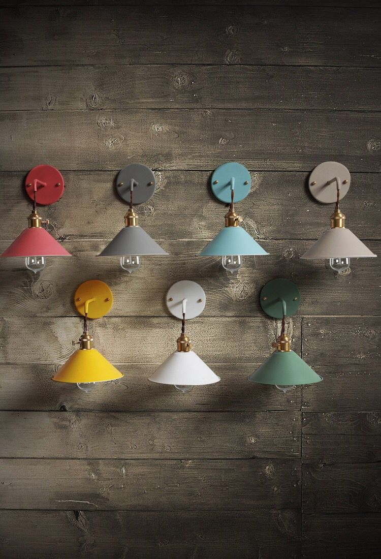 Скандинавские светодиодные Настенные светильники, светильник из кованого железа, красочные прикроватные бра, настенный светильник, винтаж
