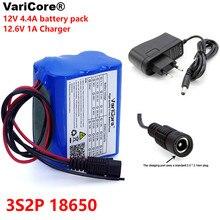 VariCore 12 v 4.4 אה 4400mAh 18650 נטענת סוללות 12 V עם BMS ליתיום סוללות הגנת לוח + 12.6V 1A מטען