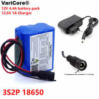 VariCore 12 v 4.4 Ah 4400mAh 18650 Rechargeable batteries 12V with BMS Lithium Battery pack Protection Board +12.6V 1A Charger
