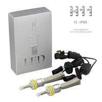 2pcs Super Bright R3 9600lm H11 Xenon White Light Car LED Headlight Conversion Lamp Kit NO