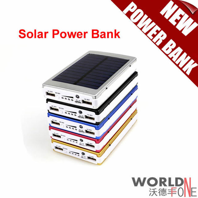 Solar Power Bank 10000mah Portbale Solar Mobile Power Supply Battery for All Mobile Phones Can Sun Charger