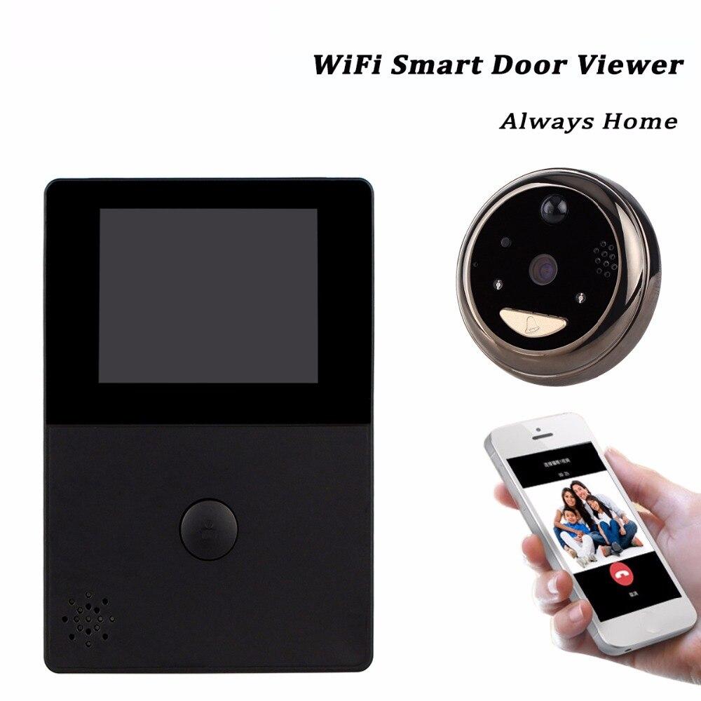 Front door peephole camera - Wifi Doorbell With Intercom 2 8 Oled Hd Screen Monitor Door Viewer Front Door Peephole Camera