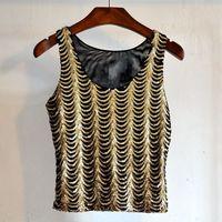 MUXU crop top summer cropped feminino clothes women sexy women tank top glitter gold sequin dress summer clothes for women