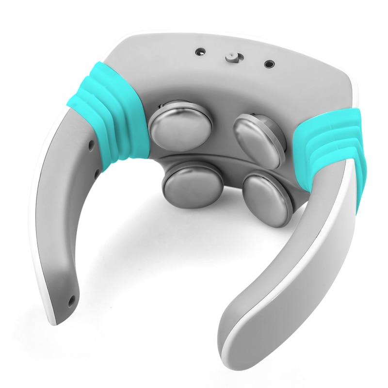 Masajeador de cuello de acupuntura de pulso eléctrico cuidado de la salud terapia Cervical instrumento de carga parche de masaje Control remoto inalámbrico-in Masaje y relajación from Belleza y salud    1