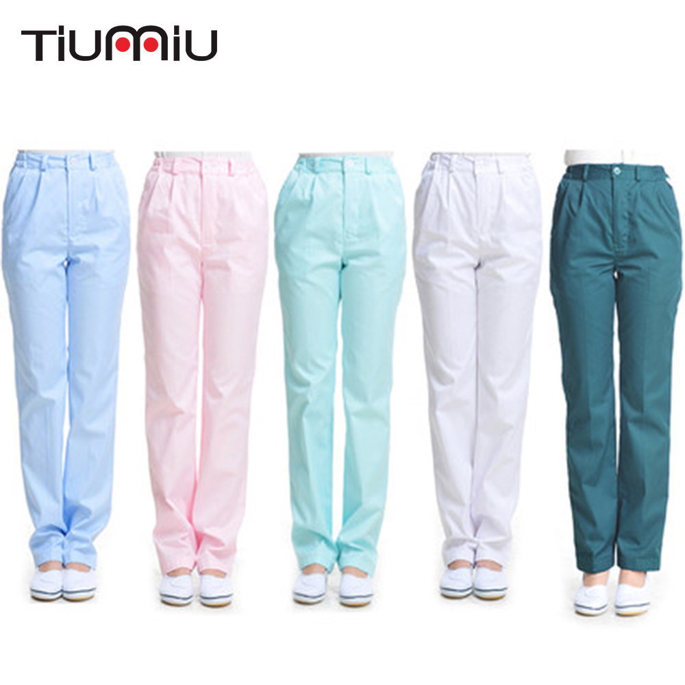 2019 New High Quality Medical Uniforms Hospital Doctor Nurse Pants Medical Pants Dentists Beauty Salon Clinic Women Female Pants