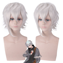 Fate/Grand Order FGO Kadoc Zemlupus Short Fluffy Layered Synthetic Cosplay Hair Game