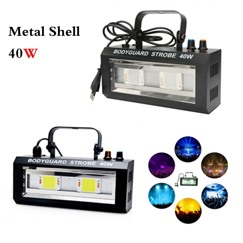 AC90-260V 40 w led Sound Control Stroboscope Auto LED Disco Party DJ Bar Strobe Light LED Spectacle de Musique Projecteur Stade lumière Chaude