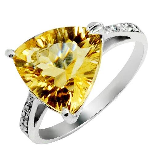 4 Carat Natural Citrine Ring 925 Sterling Silver Yellow Crystal Woman Fashion Fine Elegant Queen Luxury Birthstone Gift sr0152c все цены