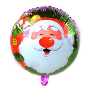 Image 3 - 100PCS/lot 18inch Santa Claus Snowman Christmas tree foil balloons Merry Christmas New Year Party Helium Balaos Decor Supplies