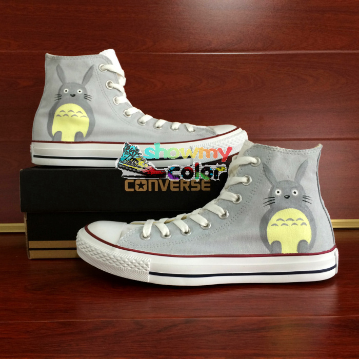 Sneakers Grey Converse Chuck Taylor Men Women Shoes My Neighbor Totoro Custom Design Hand Painted Shoes Man Woman Christmas Gift
