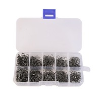 210 pcs/Set Stainless Steel Fishing Swivel Snap Rolling Swivel Connector hooked Fishhook Snaps Pin Ball Bearing  Lure Tackle Kit|Fishing Tools|Sports & Entertainment -