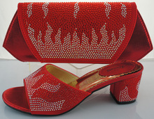 High Quality Italian Shoes And Matching Bags For Wedding Woman Sandal Shoes African Shoes And Bag To Match ME2218