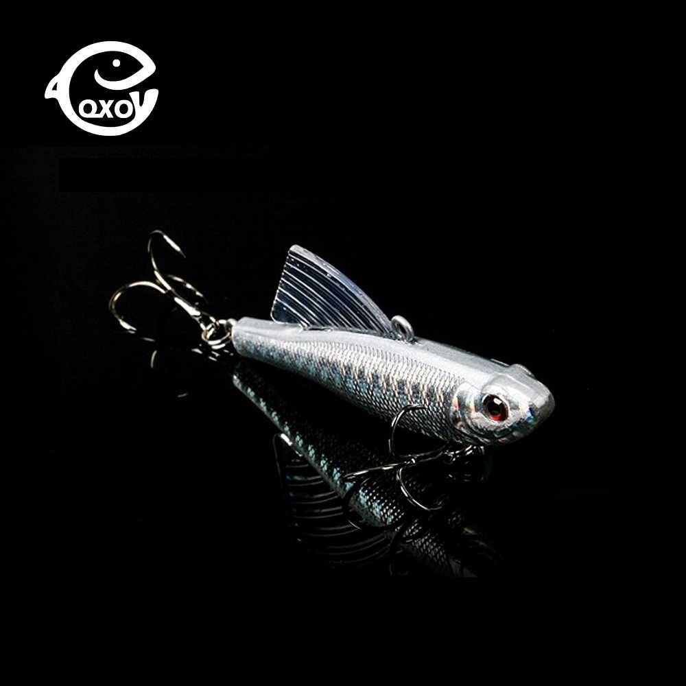 QXO 7 ซม.18g เหยื่อตกปลา Crankbait ปลาหมึก Octopus HardMinnow JIG โลหะ VIB เหยื่อฤดูหนาวน้ำแข็งสินค้าตกปลาเหยื่อ Wobbler