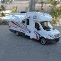 Escala 1:32 Aleación de Metal Diecast Car Collection Modelo Para Sprinter Lujo Motorhome RV Caravana Remolque Modelo de Vehículos de Recreo