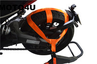 MOTO4U Motorbike Motorcycle REAR Wheel Handlebar Transport Bar Tie Down Strap Orange