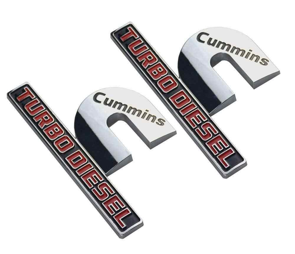1x Big OEM Cummins Turbo Diesel Emblem fits 2500 3500 Fender Matte Black F