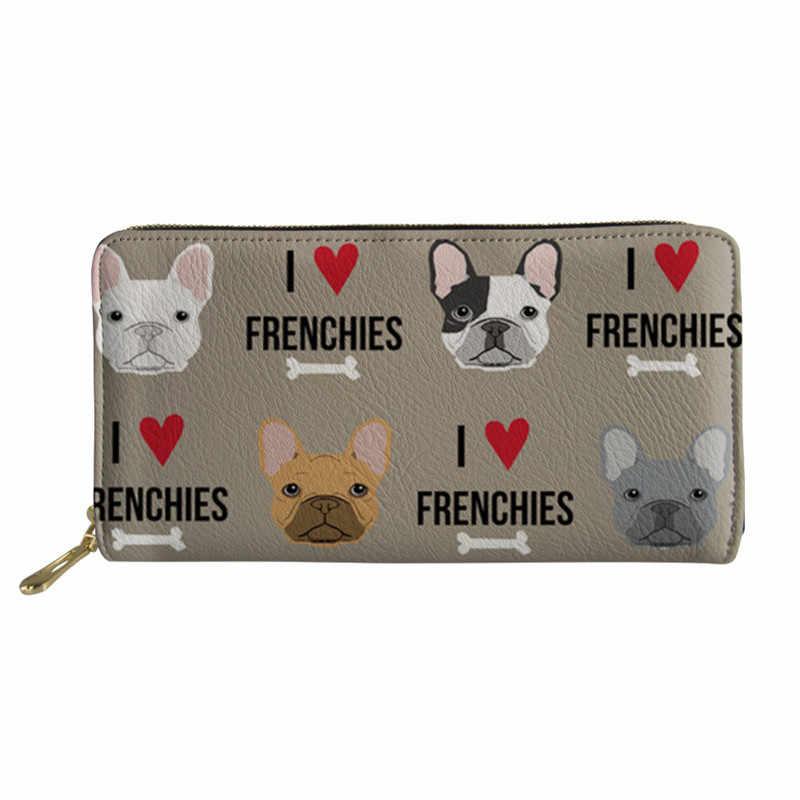 THIKIN Summer Totes Bag For Ladies French Bulldog Cute Women Top-hanlde Messenger Bags Teenager Girls Handbags With Purse&Wallet
