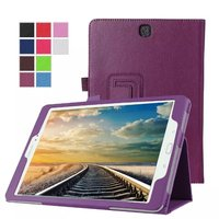 For Samsung Galaxy Tab A 9 7 Case Slim Lichee Pattern Folding Leather Cover Case For