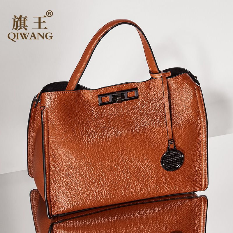 Qiwang Fashion Women Soft Bags Genuine Leather Handbag Luxury Designer Lady Bag Handbags For Women Shoulder