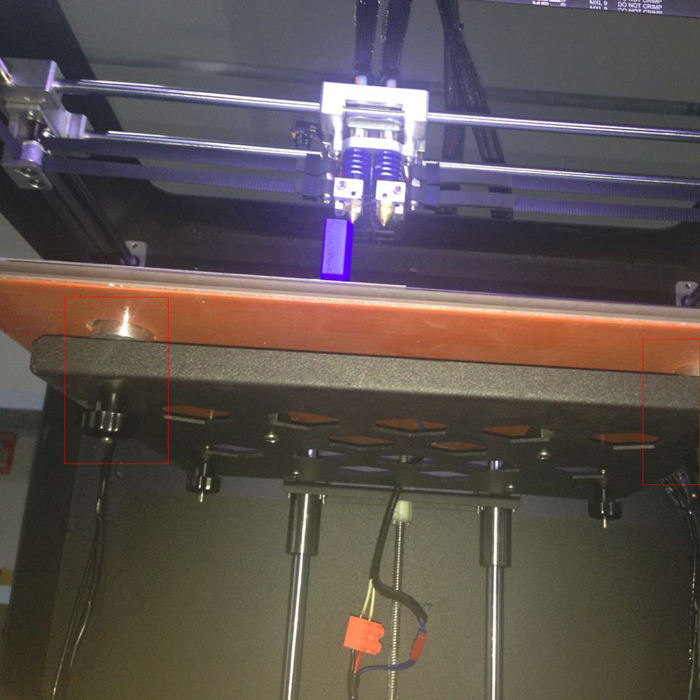 Plaque DE travail DE DEPLUS en verre Plus pièces d'origine CreatBot pour imprimante 3D matériau en verre plaque DE travail DE lit chauffant