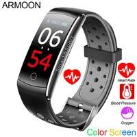 Smart Bracelet Q8S Heart Rate Smart Band Sleep Monitor Fitness Tracker Blood Pressure Watch Waterproof Color Screen Sports Band