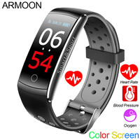 Smart Bracelet Q8S Heart Rate Smart Band Sleep Monitor Fitness Tracker Blood Pressure Watch Waterproof Color Screen Sports Band