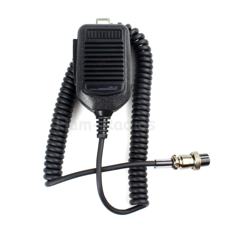 Walkie Talkie 8Pin Hand Mic Microphone For ICOM HM36 HM-36 IC-718 IC-775 IC-7200 IC-7600 Two Way Radio Speaker Mic