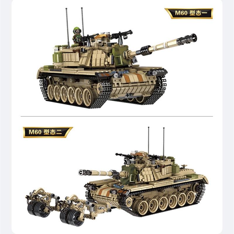 新しいイスラエル M60 タンクロシア T90 タンクパズル組立ビルディングブロックキットおもちゃキッズギフト  グループ上の おもちゃ & ホビー からの モデル構築キット の中 1